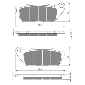 BRAKE PADS GOLDFREN  GF277-S3