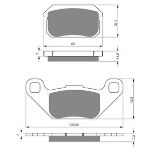 BRAKE PADS GOLDFREN  GF283-K5