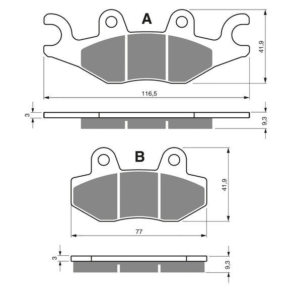 BRAKE PADS GOLDFREN  GF329-S3