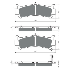 BRAKE PADS GOLDFREN  GF383-K5