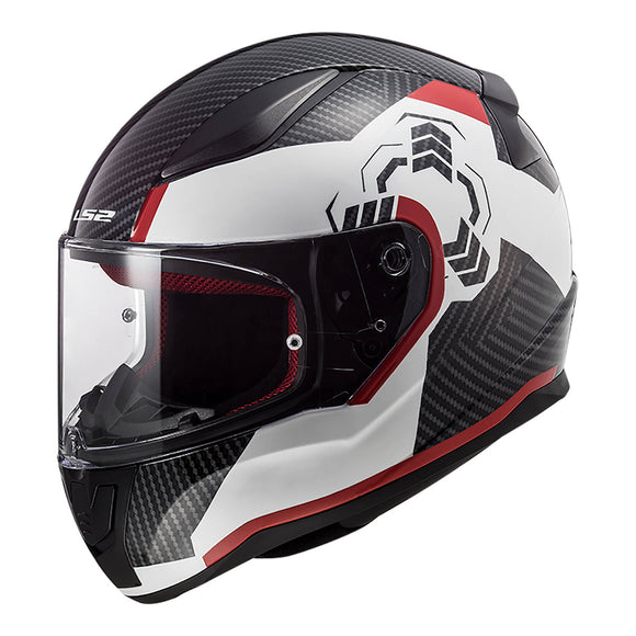 LS2 FF353 RAPID - GHOST WHITE/BLACK/RED