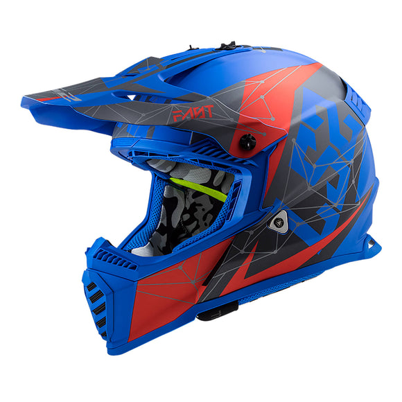 LS2 MX437 FAST EVO - ALPHA MATTE BLUE/RED