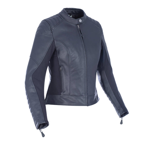 OXFORD BECKLEY LADIES LEATHER JACKET BLACK