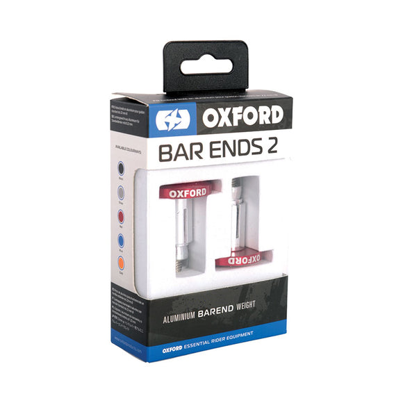 OXFORD HANDLEBAR BAR ENDS 2 RED ANODISED