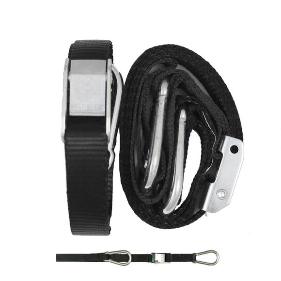 GORILLAS GRIP TIE DOWN 25MM SNAP & HOOK BLK/BLK LOOP