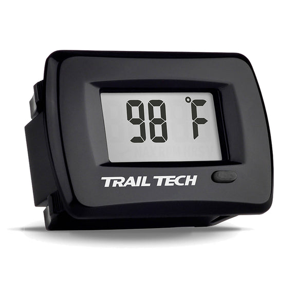 TRAIL TECH TTO PANEL - TEMP METER 12mm SPARK PLUG - BLK