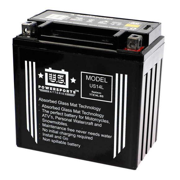 USPS AGM BATTERY US14L  YTX14L-BS  *4