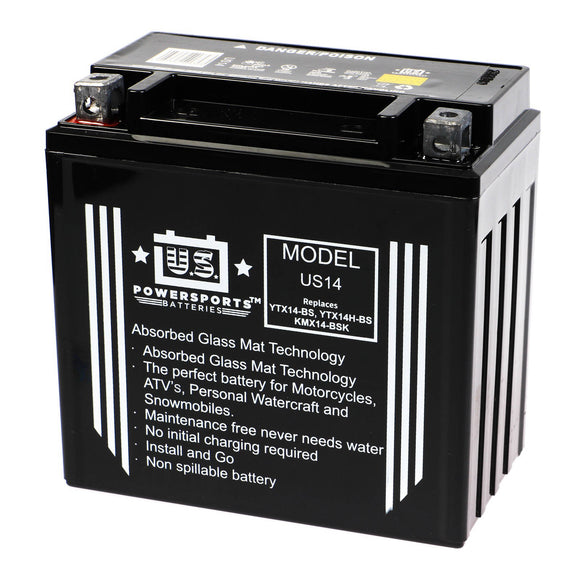 USPS AGM BATTERY US14   YTX14-BS  *4