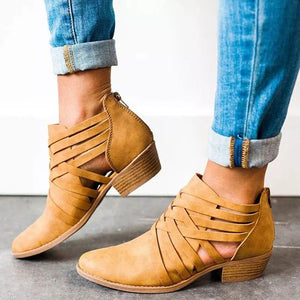 Hollow Out Square Heel Ankle Boots eotita-50-off-all-shoes-eotita