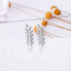 Olive Leaf Stud Earrings eotita-accessories-eotita