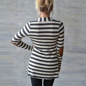Daisy - Long Sleeve Striped Cardigan eotita-best-selling-sweaters-eotita