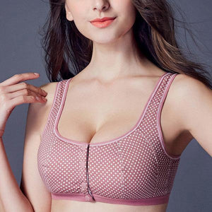 Wireless Cotton Press Stud Front Bra eotita-front-clasp-bra-sale-eotita
