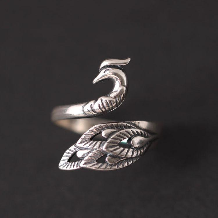 Peacock Patronus Ring - Sterling Silver eotita-accessories-eotita