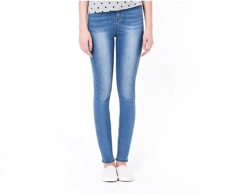 Casual High Waist Elastic Denim Jeans eotita-bottoms-eotita