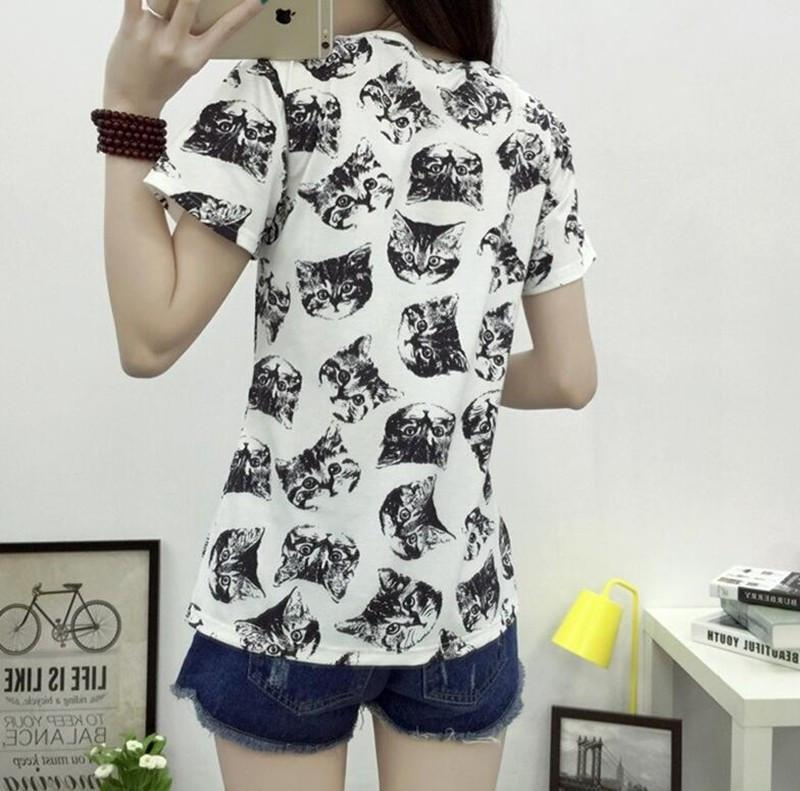 Cat-Print Shirt eotita-apparel-eotita