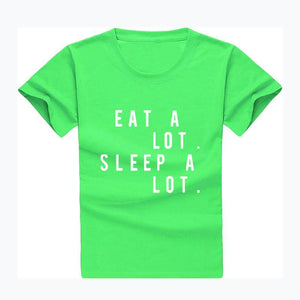 Eat A Lot. Sleep A Lot. Short Sleeve Graphic Tee eotita-apparel-eotita