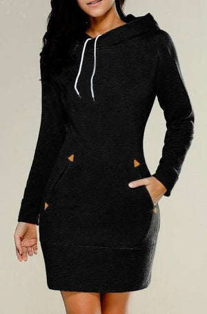 Turn - Hooded Sweater Dress with Pockets eotita-apparel-eotita