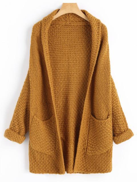 Mali - Batwing Curled Sleeve Cardigan with Pockets eotita-best-selling-sweaters-eotita
