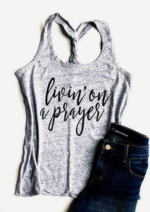 Livin' On A Prayer Twist Bank Tank Top eotita-apparel-eotita