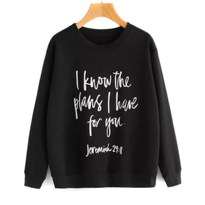 I Know the Plans I Have For You Pullover Sweater eotita-apparel-eotita