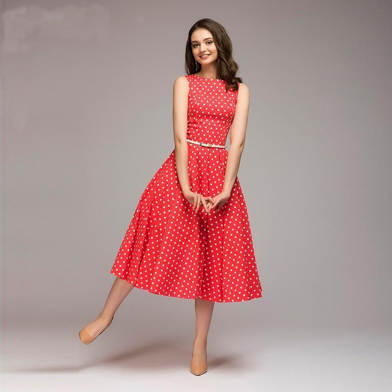 Georgia - Vintage Polka Dot A-Line Dress eotita-apparel-eotita
