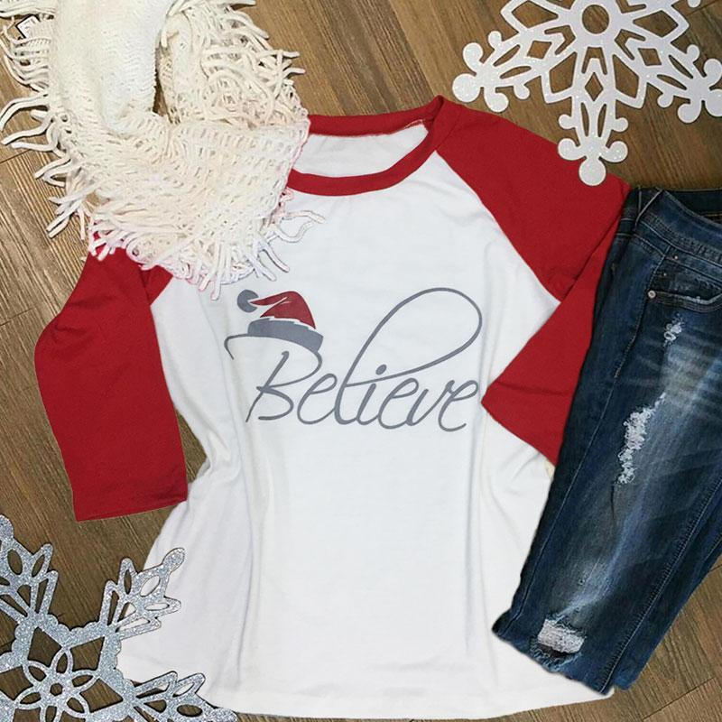 Believe Christmas Baseball Top eotita-apparel-eotita