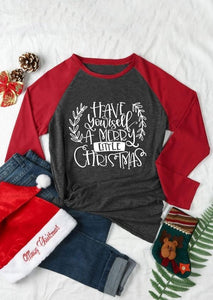 Have Yourself a Merry Little Christmas Baseball Tee eotita-apparel-eotita
