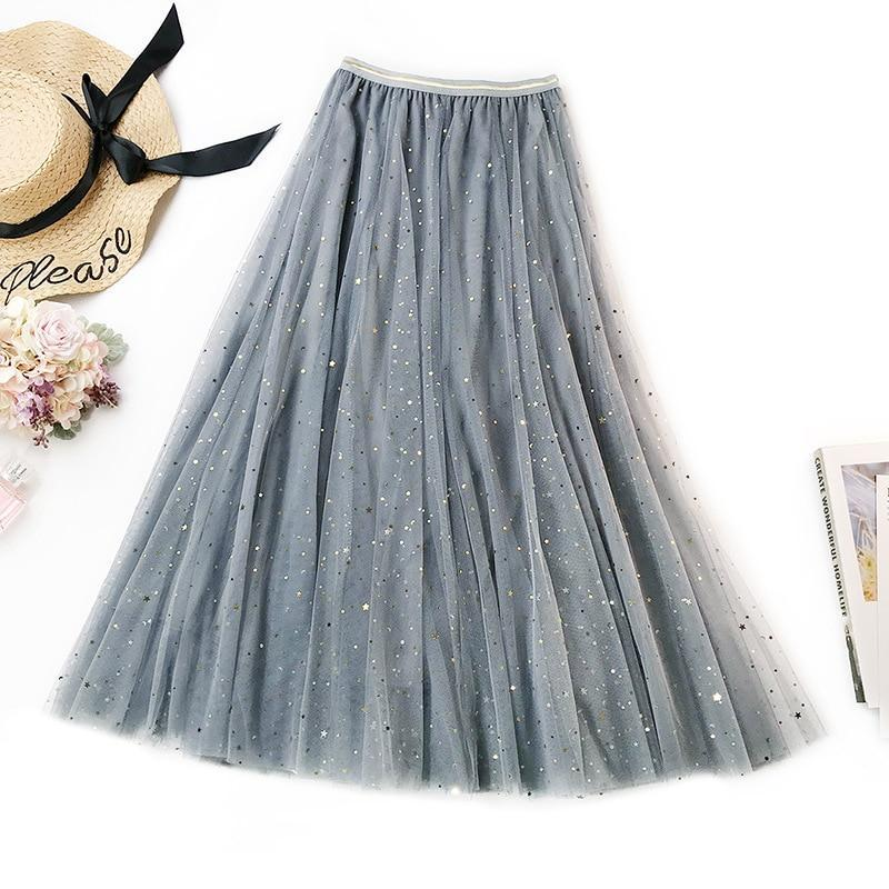Honora - Sparkle Spotted High Waist Tulle Maxi Dress eotita-apparel-eotita