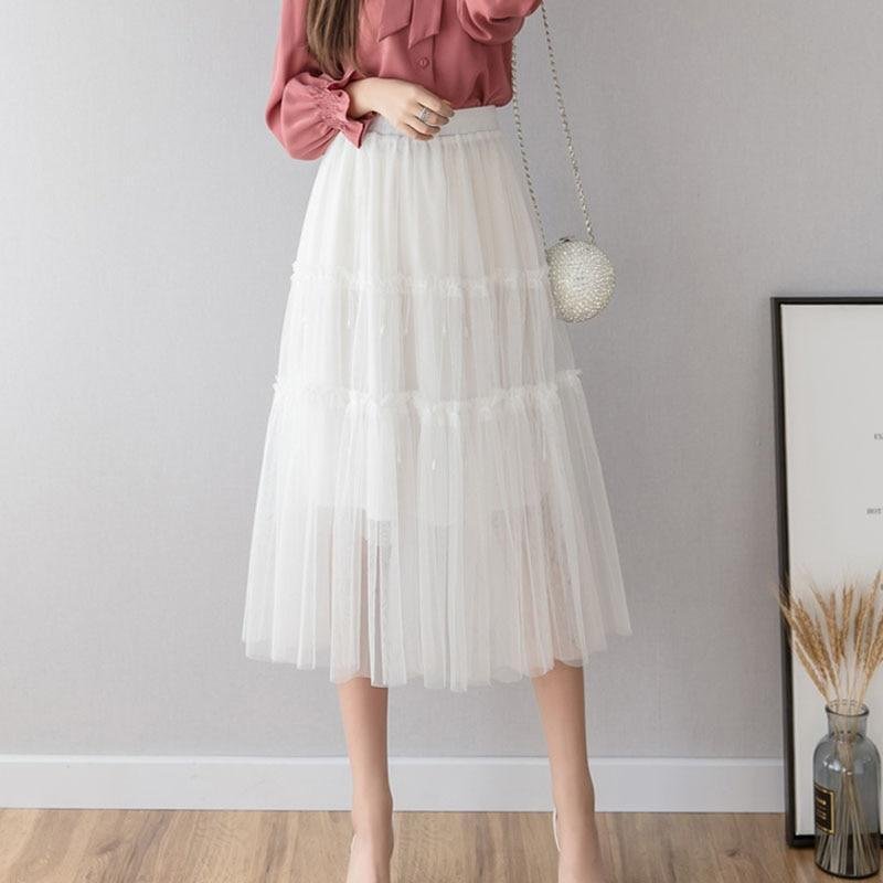 Tania - Boho Half Calf Tulle Skirt eotita-bohemian-dress-sale-eotita