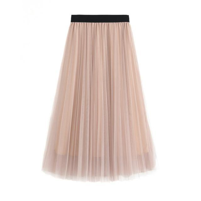 Soul - High Waist Belt Pleated Skirt eotita-bottoms-eotita