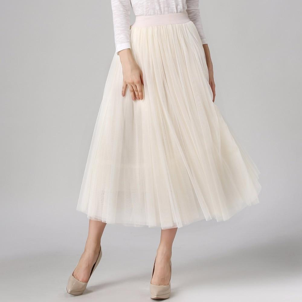 Sinead - High Waist Pleated Tulle Skirt eotita-bottoms-eotita