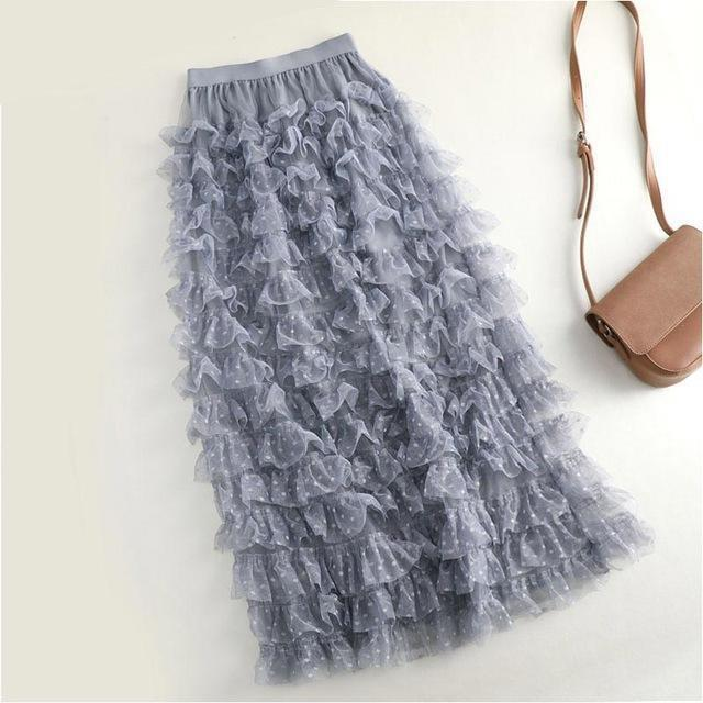 Cleo - Multi-Layer Ruffle Tulle Skirt eotita-bottoms-eotita