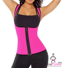 Waist Shaper Workout Vest With Zipper - Neoprene Made