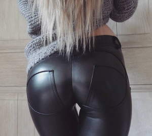 Low Waist Deluxe Leather Pants (Eco-Friendly)