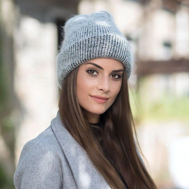 Rabbit Fur Beanie Hat - SexyCurvesNow