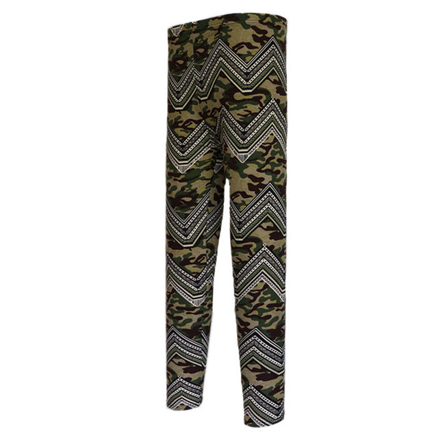 Sexy High Waist Camouflage Leggings - SexyCurvesNow