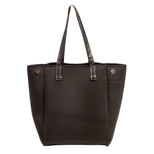 Ivy (Black) Neoprene Tote Bag - neoprenebags