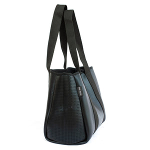 Frankie (Metallic Black) Neoprene Tote Bag - neoprenebags
