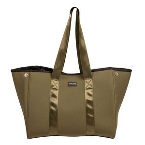 Lenny (Khaki) Gym/Beach/Nappy Neoprene Tote Bag