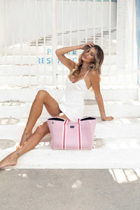 Capri (Pink) Gym/Beach/Nappy Neoprene Tote Bag