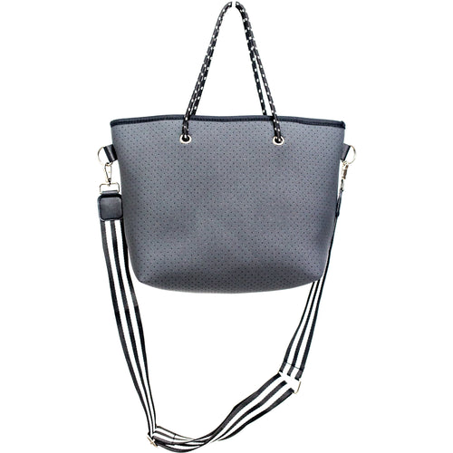 Mini Alfie (Charcoal Grey) Neoprene Tote Bag/Shoulder Bag - neoprenebags