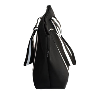 Manhattan (Black) Neoprene Tote Bag- With Zip Closure - neoprenebags