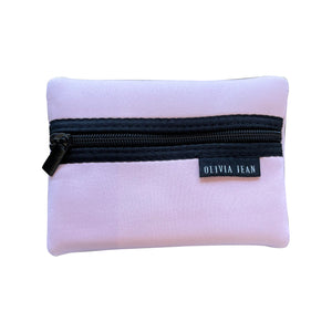 Pink Neoprene Purse