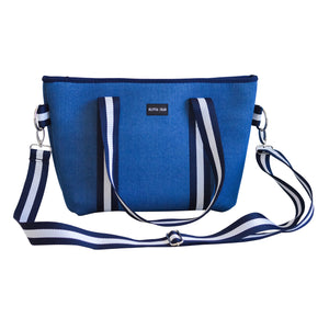 Harper (Denim Blue) Small Neoprene Tote/Crossbody Bag