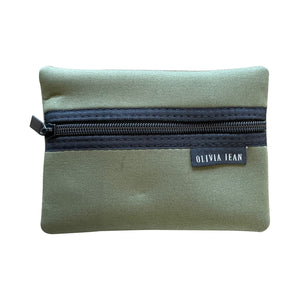 Khaki Neoprene Purse
