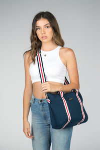 Harper (Navy) Small Neoprene Tote/Crossbody Bag
