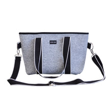 Harper (Marle Grey) Small Neoprene Tote/Crossbody Bag- With Zip Closure