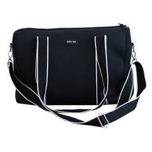 Alexis (Black) Weekender Neoprene Bag- With Zip Closure