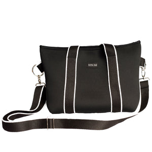 Harper (Black) Small Neoprene Tote/Crossbody Bag - neoprenebags