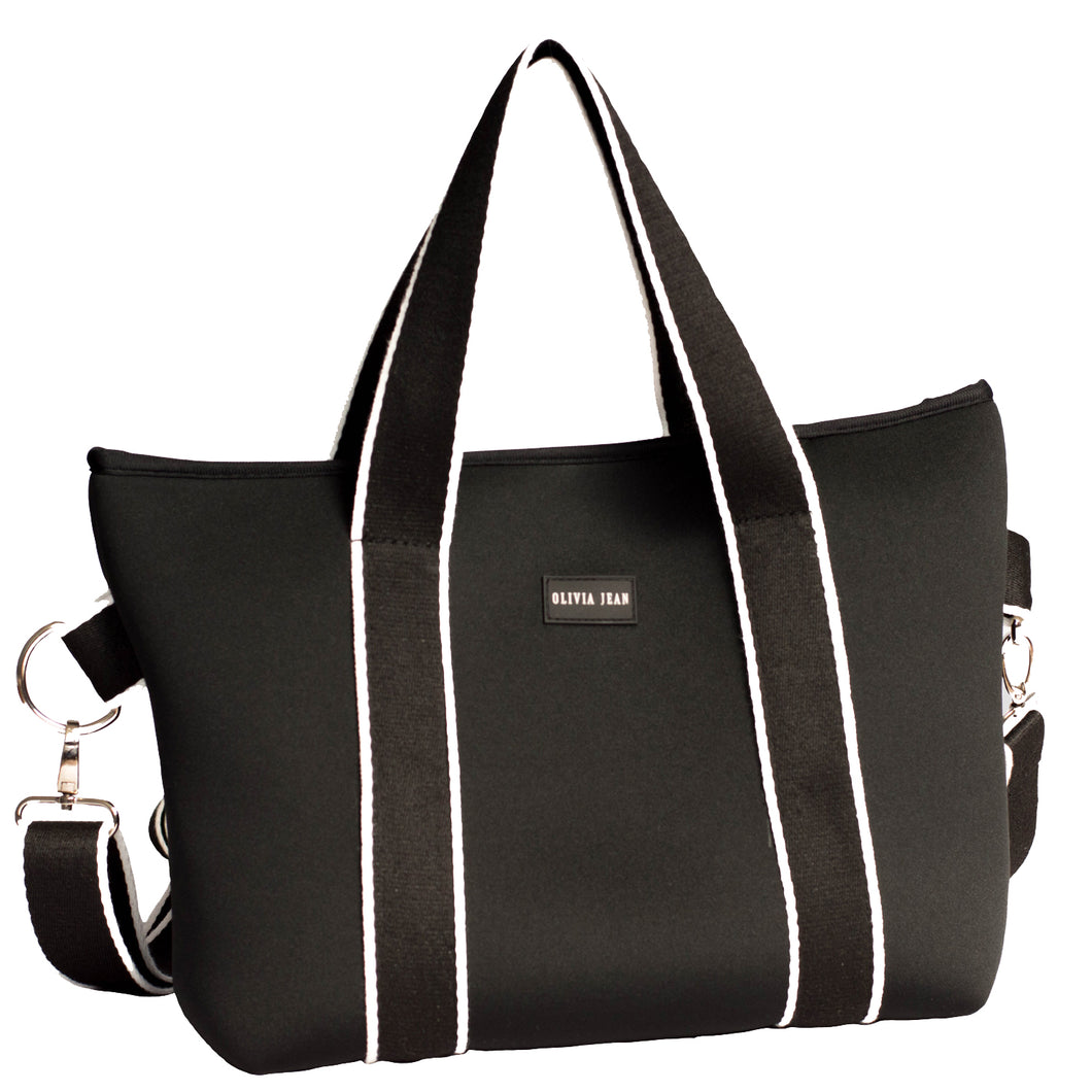 Harper (Black) Mini Neoprene Tote Bag - neoprenebags